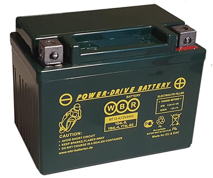 WBR MT12-4 аккумуляторная батарея для мотоцикла/квадроцикла