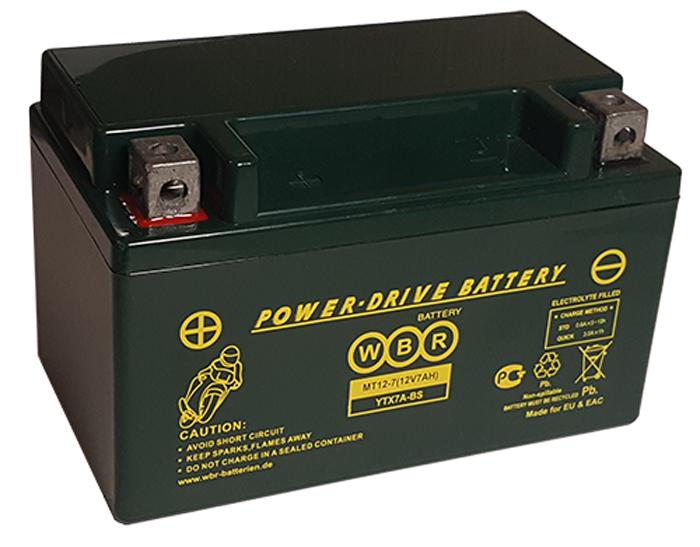 WBR MT12-7 аккумуляторная батарея для мотоцикла/квадроцикла