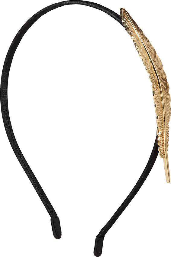 Ободок для волос Nothing but Love, цвет: черный, золотистый. 203415 обручи тройные на привязку