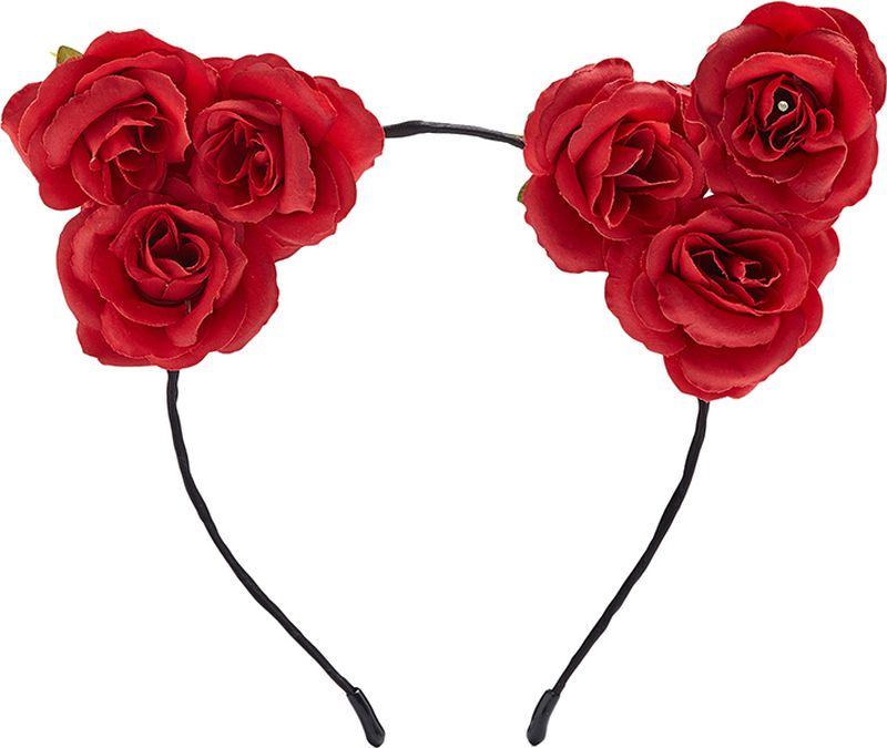 Ободок для волос Nothing but Love, цвет: красный, черный. 203628