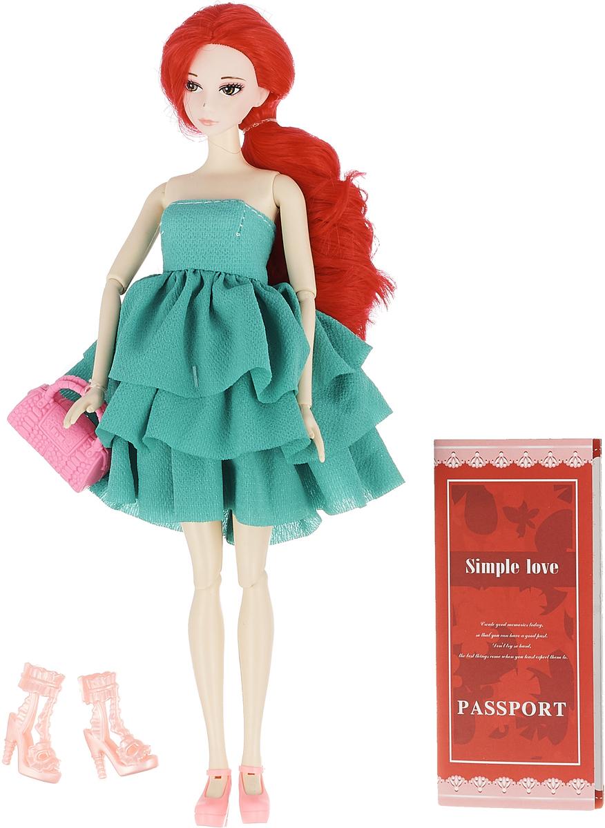 JUNnew Кукла с сумочкой цвет платья зеленый defa toys кукла lucy happy wedding цвет платья розовый