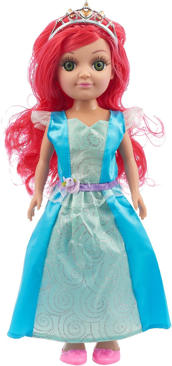 Карапуз Кукла озвученная Принцесса цвет платья голубой бирюзовый куклы карапуз кукла карапуз принцесса рапунцель 25 см