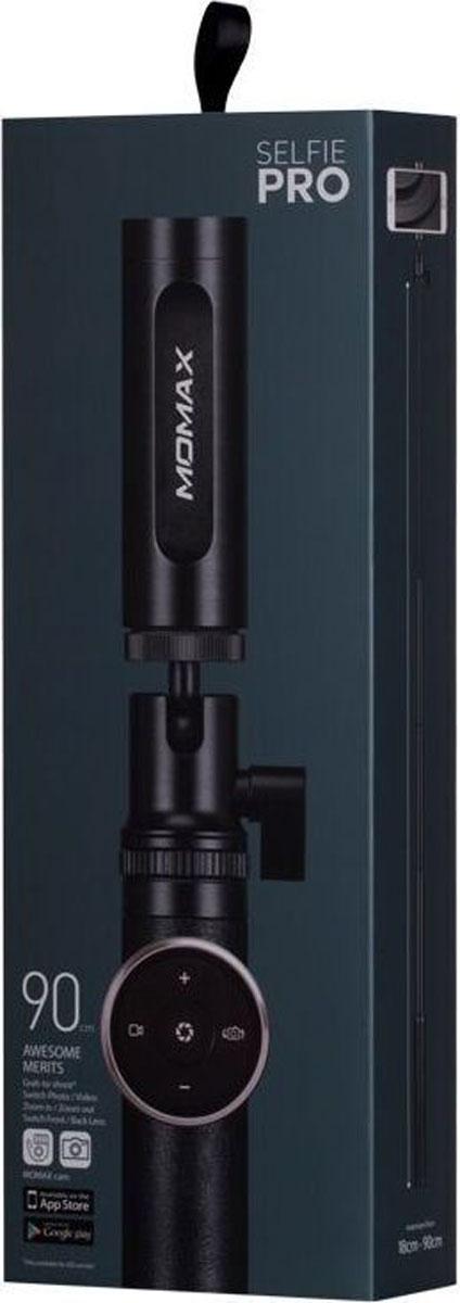 Momax Selfie Pro Premium, Black монопод для селфи монопод momax selfie mini беспроводной розовый