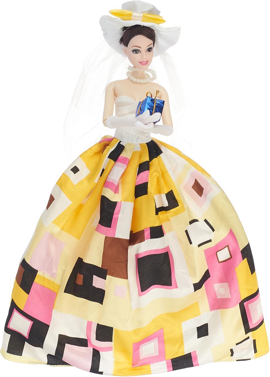JUNnew Кукла со шляпкой и подарком цвет платья желтый повседневные платья