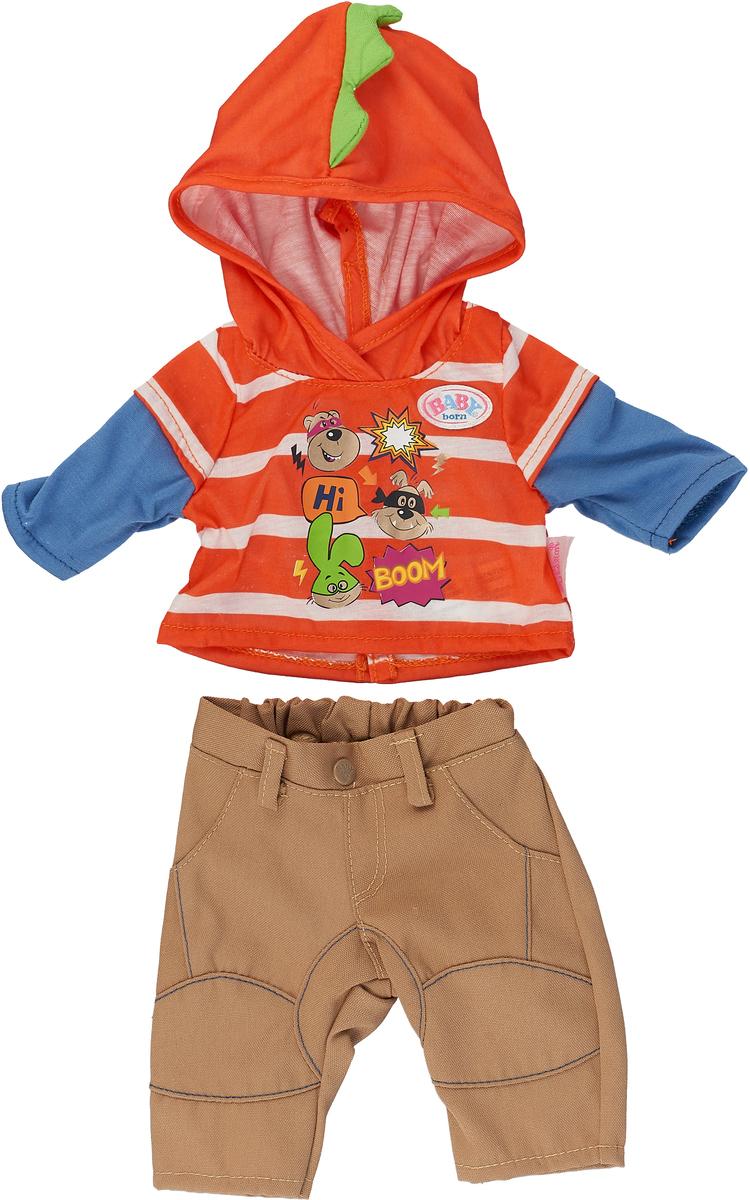 Zapf Creation Одежда для куклы BABY born цвет оранжевый бежевый 824-535 куклы и одежда для кукол zapf creation baby annabell памперсы 5 штук