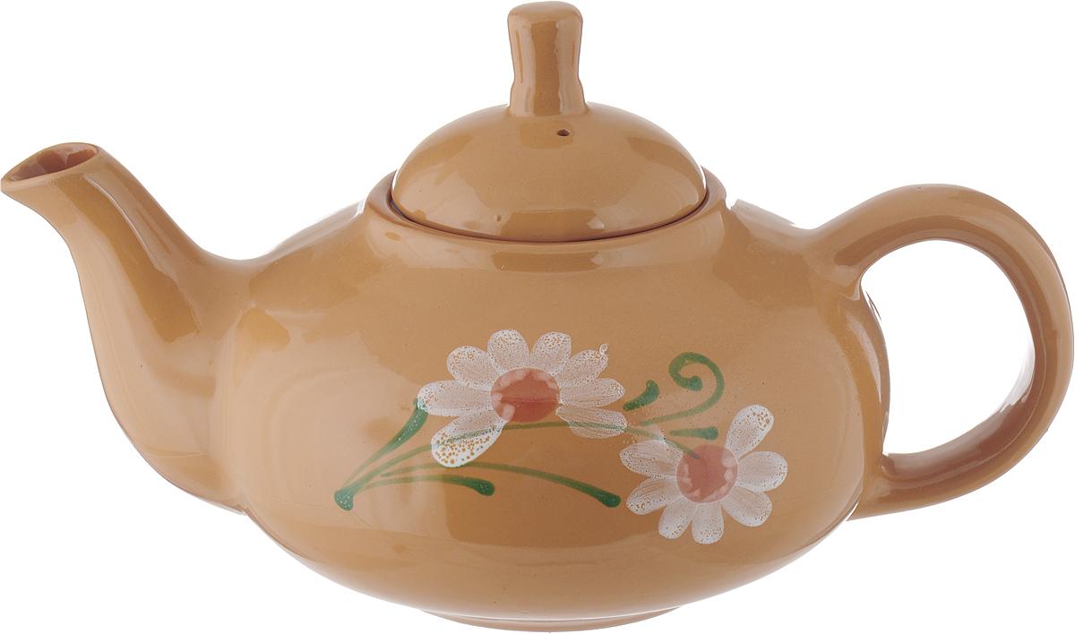 Чайник заварочный Борисовская керамика Кроха, цвет: свеило-коричневый, 700 мл. ОБЧ00000609 чайник заварочный agness 0 4 л коричневый
