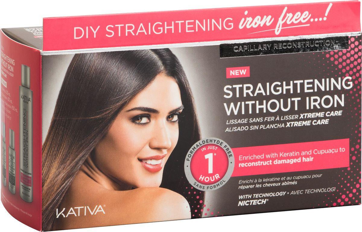 Kativa Iron Free Набор для выпрямления волос Уход, для поврежден волос, с маслом купуасу и кератином