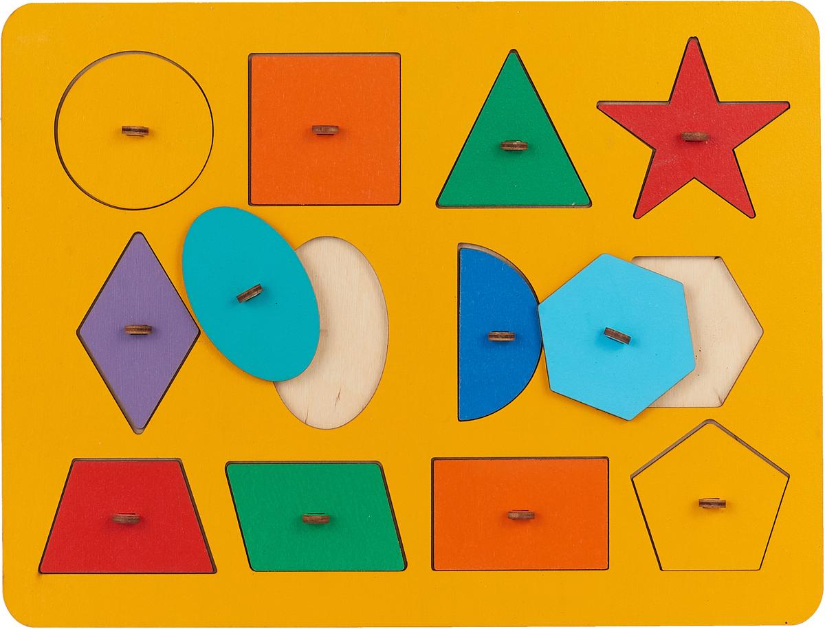 Smile Decor Обучающая игра Рамки-вкладыши Монтессори Геометрия цвет желтый корвет обучающая игра удивляйка 1