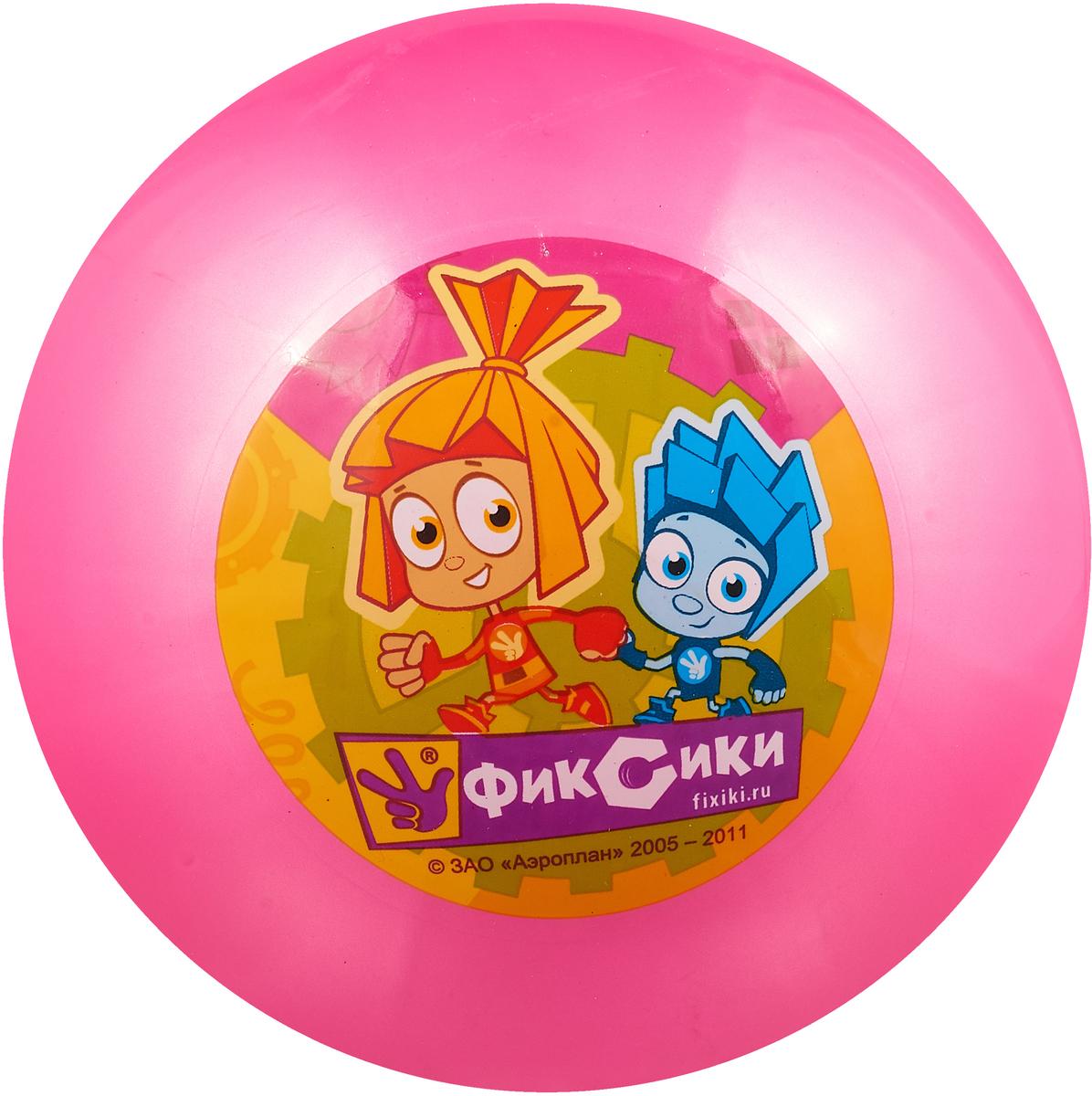 Играем вместе Мяч Фиксики цвет розовый 23 см играем вместе мяч русалочка 33 см играем вместе
