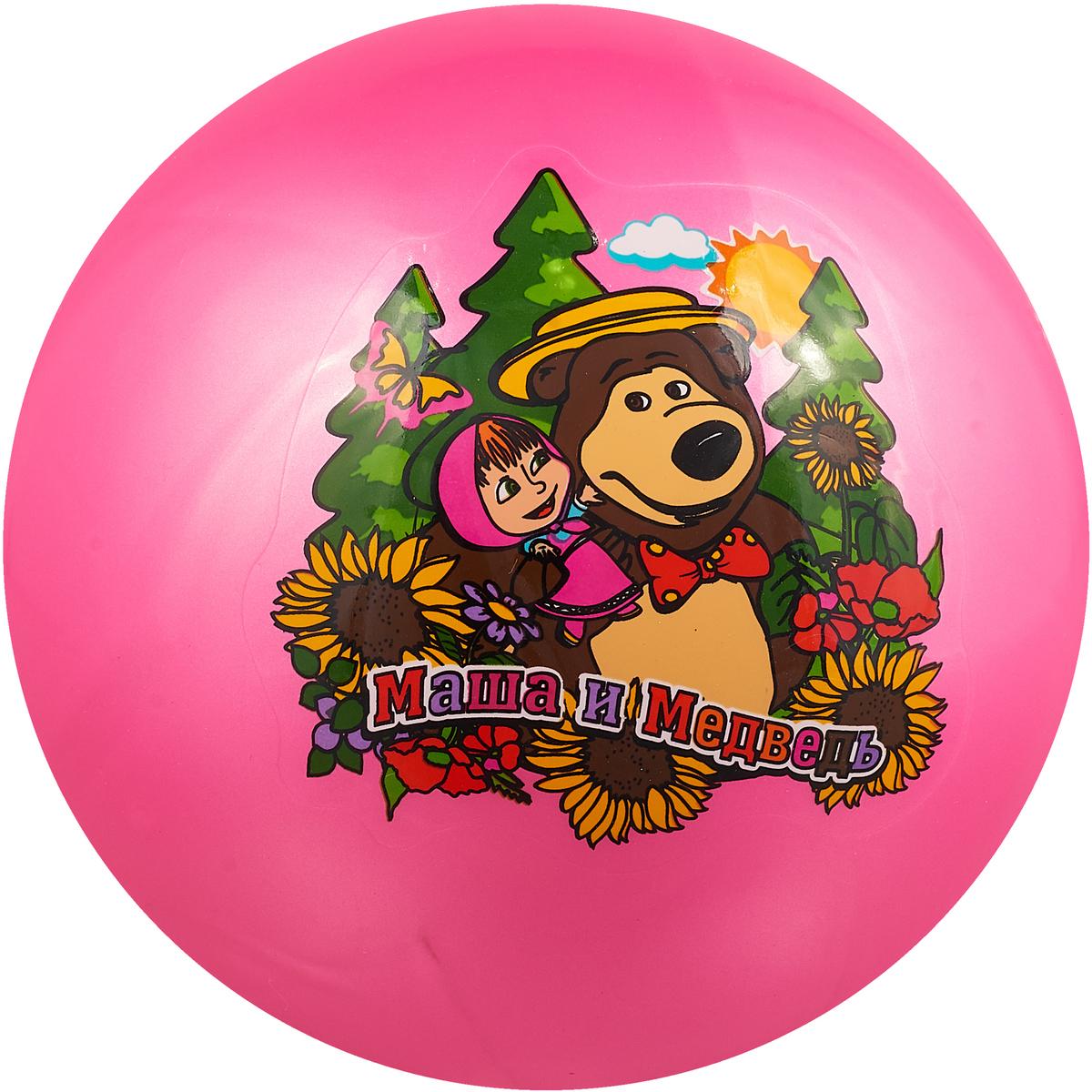 Играем вместе Мяч Маша и Медведь цвет розовый 23 см играем вместе мяч 23 см маша и медведь играем вместе