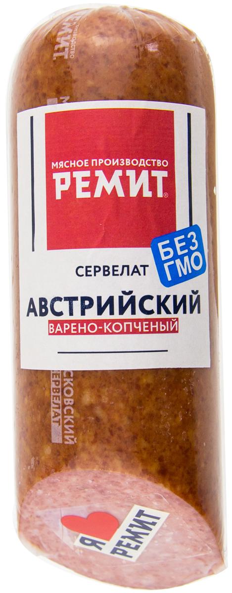 Ремит Колбаса Сервелат Австрийский, срез, 400 г Ремит