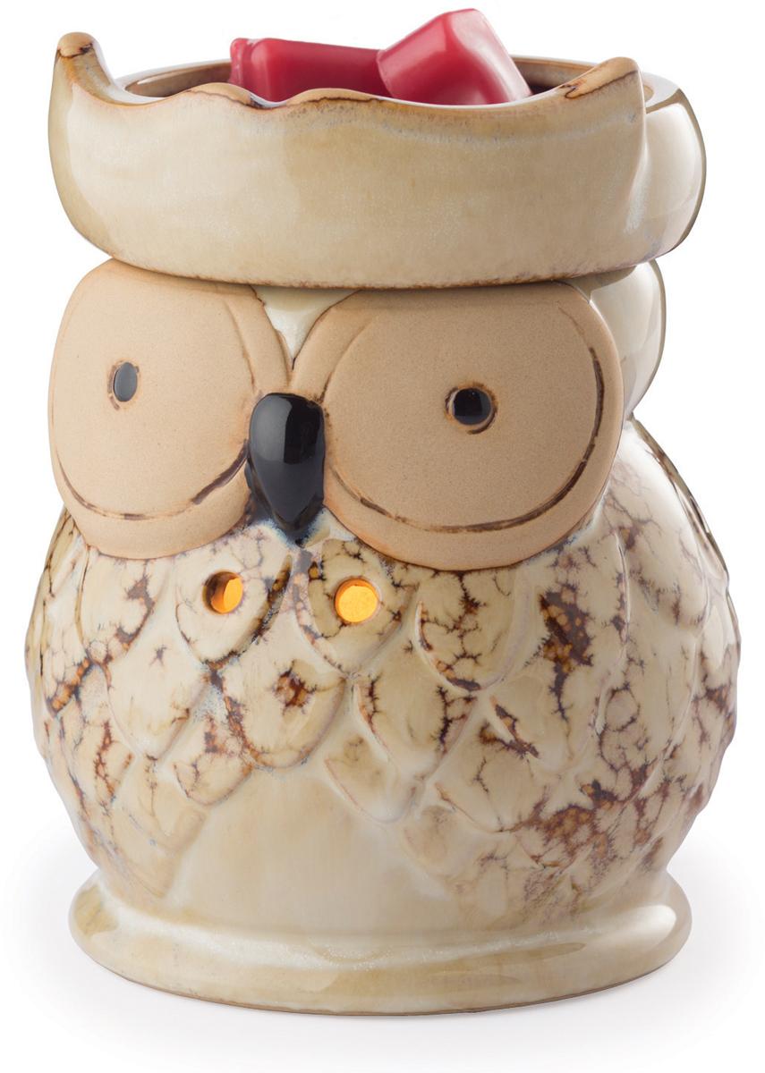 Аромасветильник настольный Candle Warmers.  Красивый светильник, с помощью которого можно не только создать уютную атмосферу, но и ароматизировать помещение. Для ароматизации, просто добавьте воск, включите, и наслаждайтесь вашим любимым ароматом в комнате. Эта причудливая, пятнистая сова с крыльями добавит очарования любой комнате.