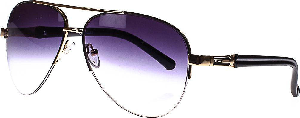 Очки солнцезащитные женские, цвет: золотистый, черный. 1803-7022_3