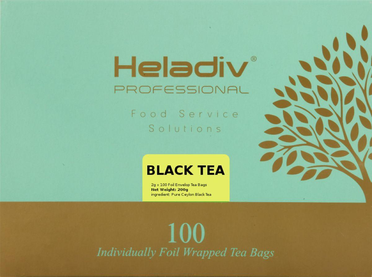 Heladiv Professional Line Black Tea чай черный, 100 шт4791007012955Байховый чай с бархатным вкусом, преобладают древесные нотки и послевкусие с цветочным оттенком. При заваривании дает настой темного золотисто-янтарного цвета, вкус мягкий, насыщенный. 100 индивидуальных саше с черным чаем в пакетиках. 200гр.