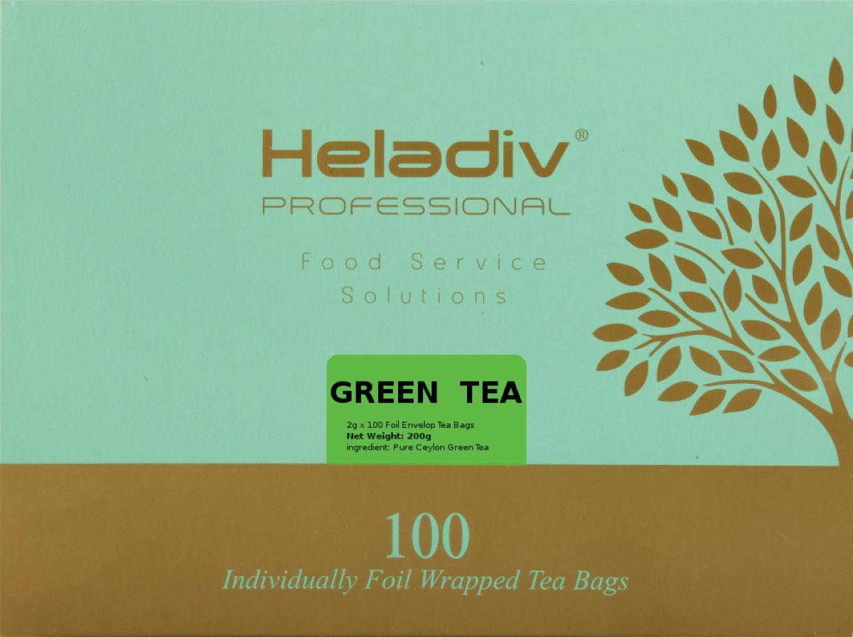 Heladiv Professional Line Green Tea чай зеленый, 100 шт heladiv green tea чай зеленый в пакетиках 25 шт