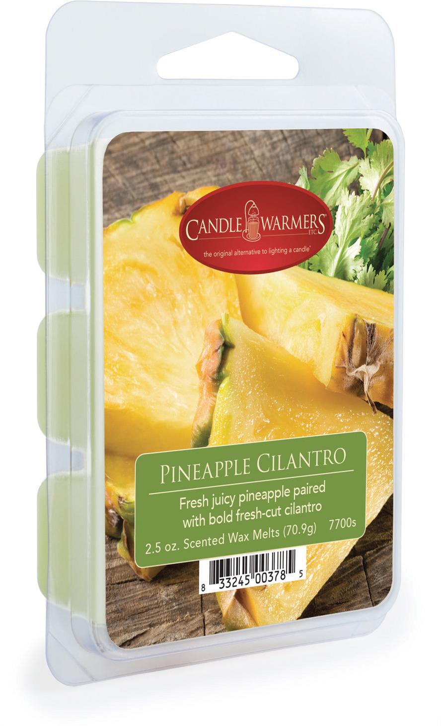 Воск ароматический Candle Warmers Ананас и кинза / Pineapple Cilantro, цвет: зеленый, 75 г ананас дозревает если зеленый