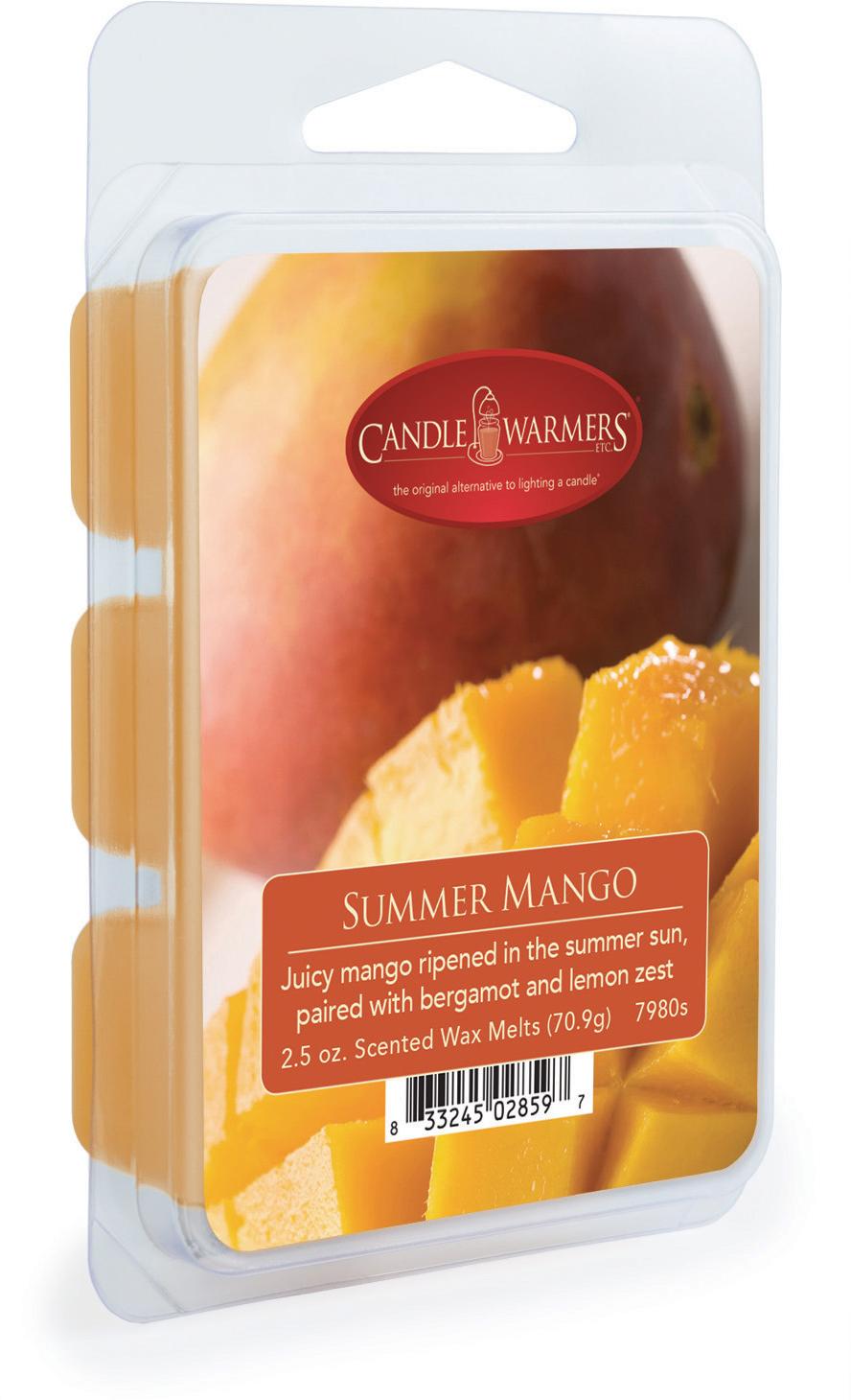 Воск ароматический Candle Warmers Летний манго / Summer Mango, цвет: бежевый, 75 г7980sВоск Candle Warmers.Мы черпаем вдохновение из нашей любви к дому, разнообразию, красоте и простоте.Откройте контейнер отломите кубик воска и положите его в емкость для нагрева.Для интенсивности аромата регулируйте количество кубиков.Сочное манго созревает на летнем солнце в сочетании с бергамотом и цедрой лимона.Время горения 30 часов.