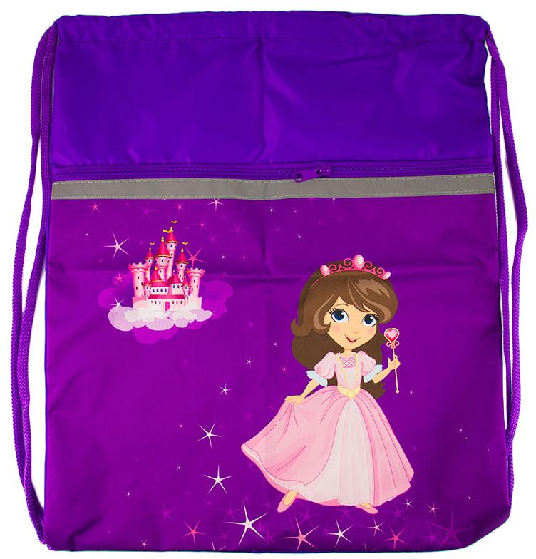 Silwerhof Сумка для сменной обуви Принцесса840483Яркая и милая сумка для обуви для маленьких принцес. Имеет карман и светоотражающие элементы.