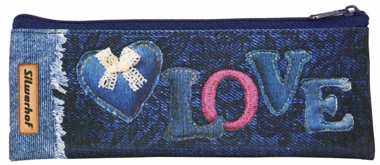 Silwerhof Пенал-косметичка Любовь850922Удобный пенал-косметичка для школьников всех возрастов, подходит как для хранения канцелярский пренадлежностей, так и для любых детских мелочей. Выполнен из прочных материалов с яркими дизайнерскими принтами.