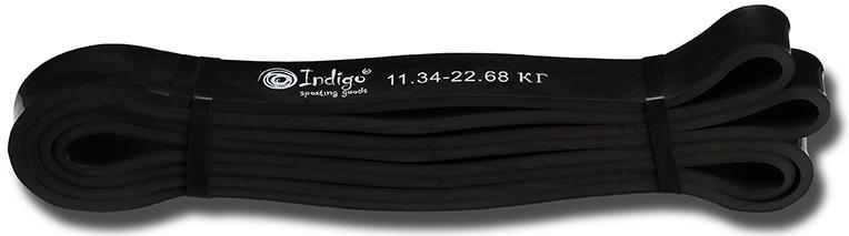Эспандер Indigo  Петля сопротивления. Power Band , нагрузка 12-23 кг, 208 х 2,2 х 0,45 см - Мини-тренажеры