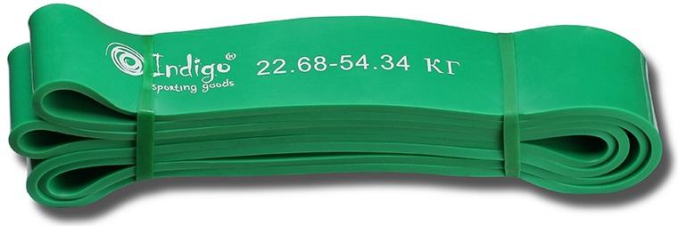 Эспандер Indigo  Петля сопротивления. Power Band , нагрузка 23-54 кг, 208 х 4,4 х 0,45 см - Мини-тренажеры
