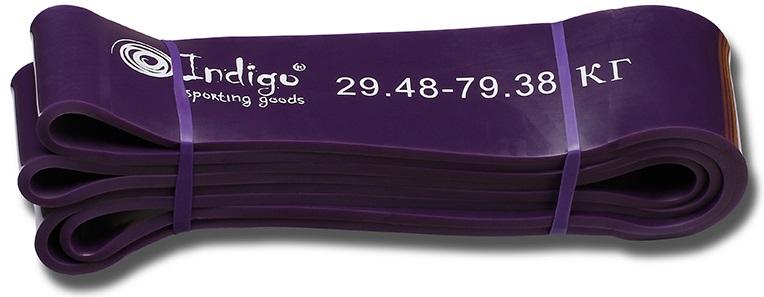 Эспандер Indigo Петля сопротивления. Power Band, нагрузка 29-79 кг, 208 х 6,4 х 0,45 см