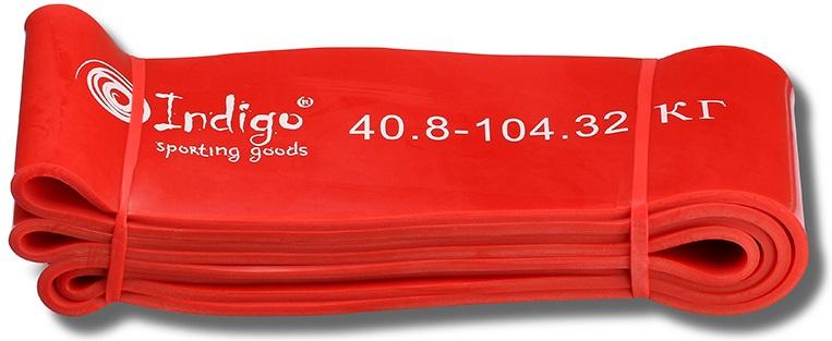 Эспандер Indigo Петля сопротивления. Power Band, нагрузка 40-105 кг, 208 х 8,3 х 0,45 см