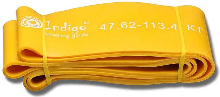 Эспандер Indigo Петля сопротивления. Power Band, нагрузка 47-114 кг, 208 х 10,1 х 0,45 см