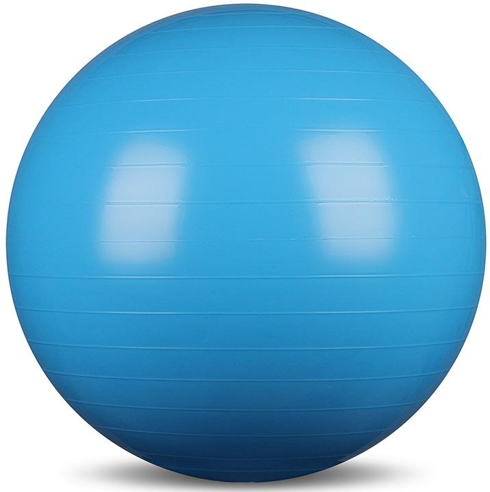 Мяч гимнастический Indigo, цвет: голубой, диаметр 65 см коврик гимнастический kettler цвет голубой 173 х 61 см