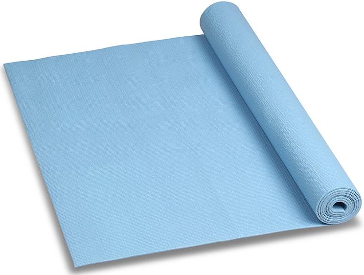 Коврик для йоги и фитнеса Indigo, цвет: голубой, 173 х 61 х 0,6 см коврик гимнастический kettler цвет голубой 173 х 61 см