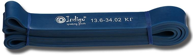 Эспандер Indigo  Петля сопротивления. Power Band , нагрузка 15-35 кг, 208 х 3,2 х 0,45 см - Мини-тренажеры