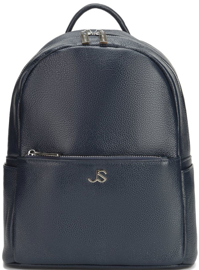 Рюкзак женский Janes Story, цвет: синий. JX-6003-1-60JX-6003-1-60Стильный рюкзак из натуральной зернистой кожи с элегантной фурнитурой серебристого цвета. Одно основное отделение на молнии, выделены карманы: внутри - один открытый и один потайной, на лицевой стороне дополнительная секция-на молнии. Лямки рюкзака регулируются по размеру. С обратной стороны расположена дополнительная секция.
