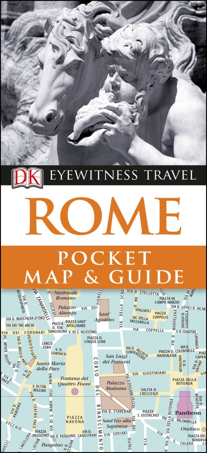 Rome Pocket Map and Guide the colosseum
