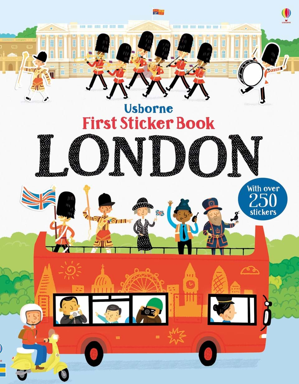 First sticker book London the usborne terrific colouring and sticker book