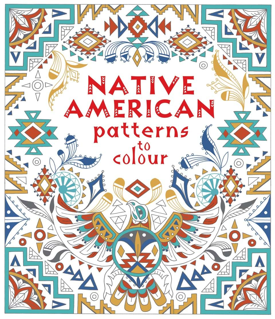 Native American patterns to colour folk art patterns to colour