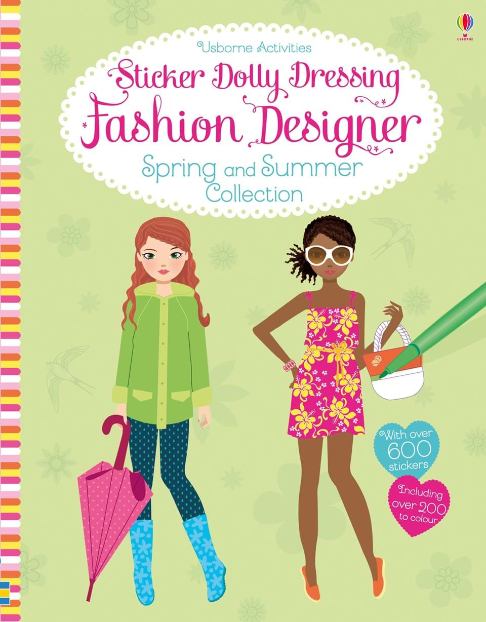 Sticker Dolly Dressing Fashion Designer Spring and Summer Collection celtic patterns to colour