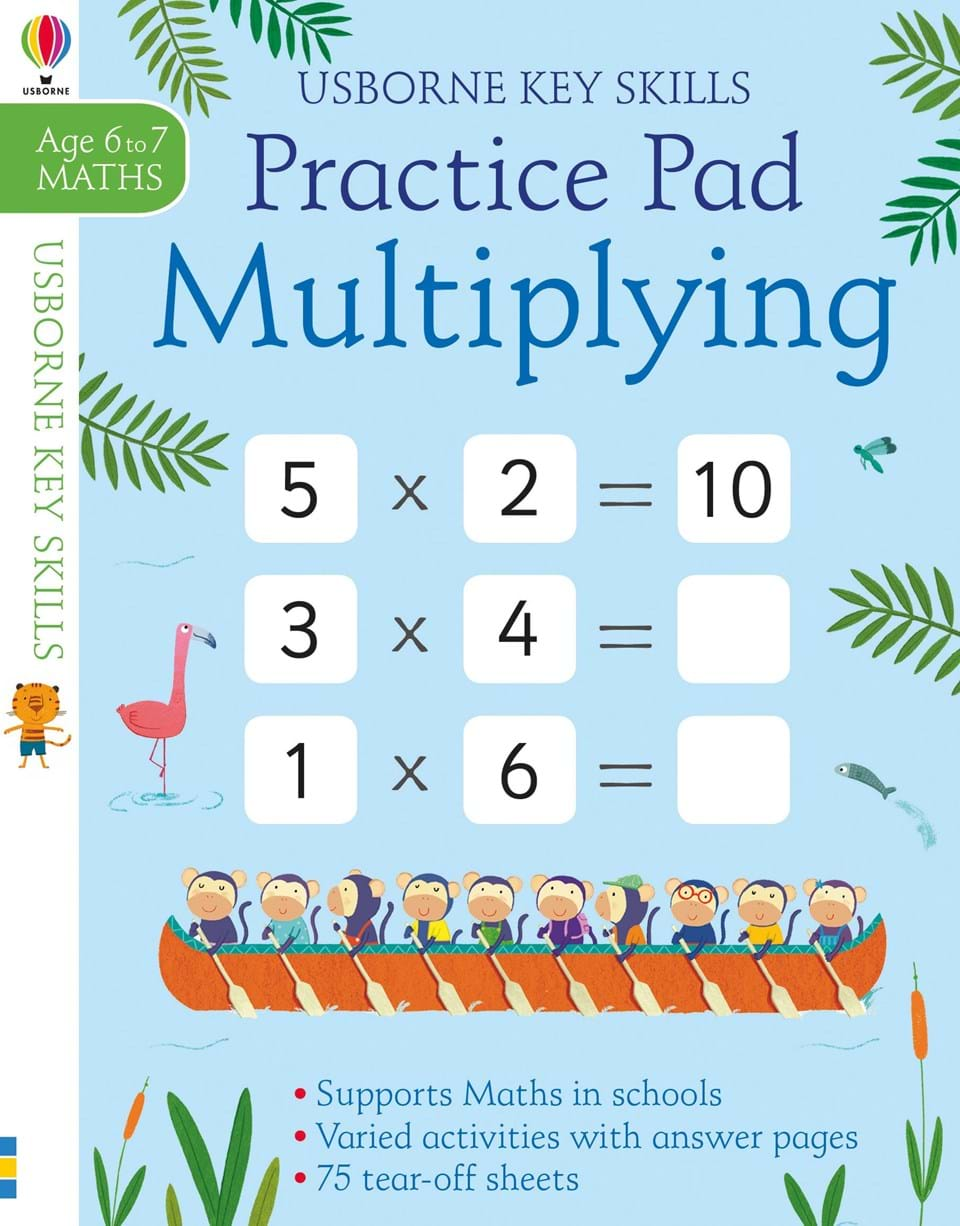 Multiplying practice pad 6-7 the usborne terrific colouring and sticker book