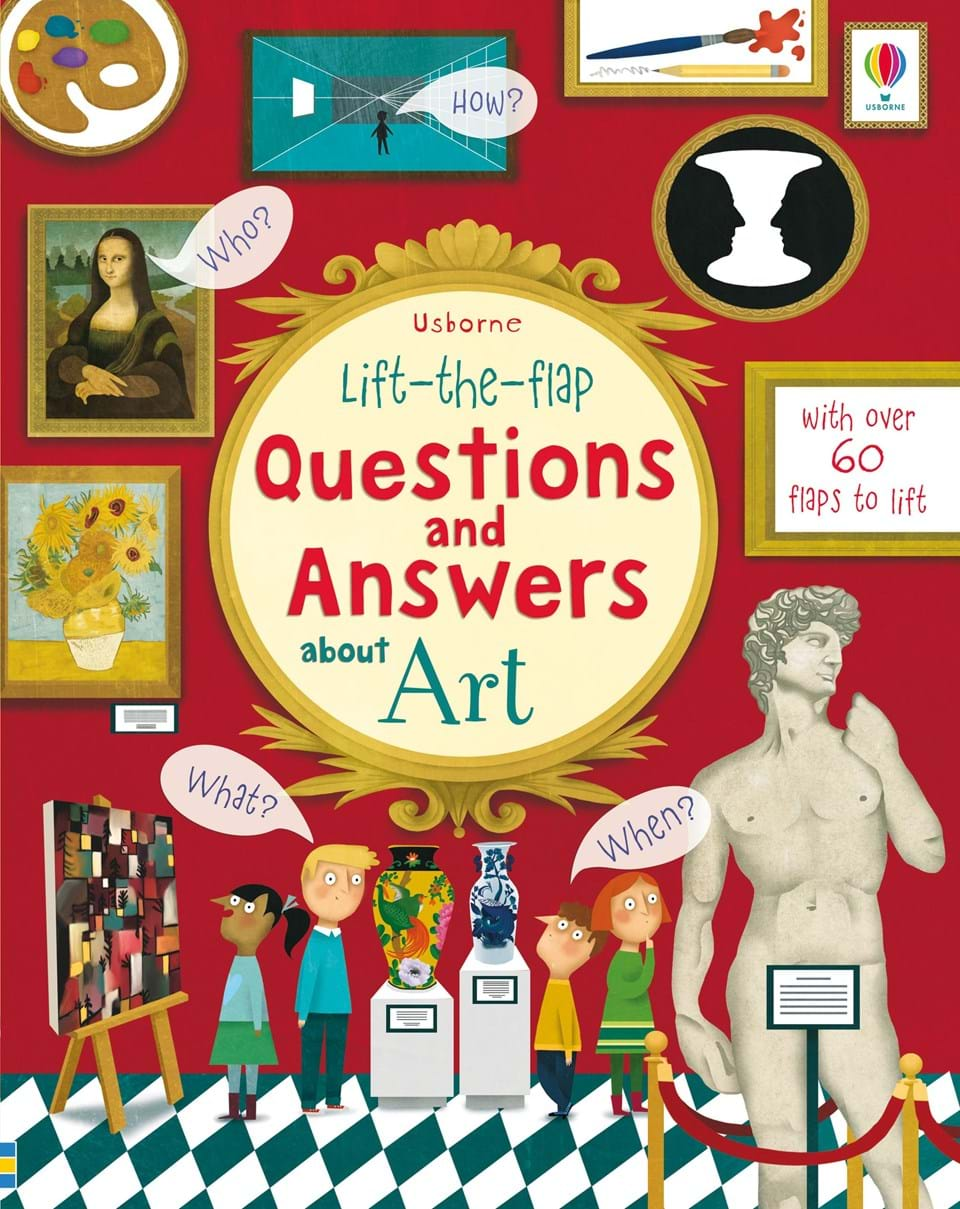 Lift-the-flap questions and answers about art dickins r the children s book of art
