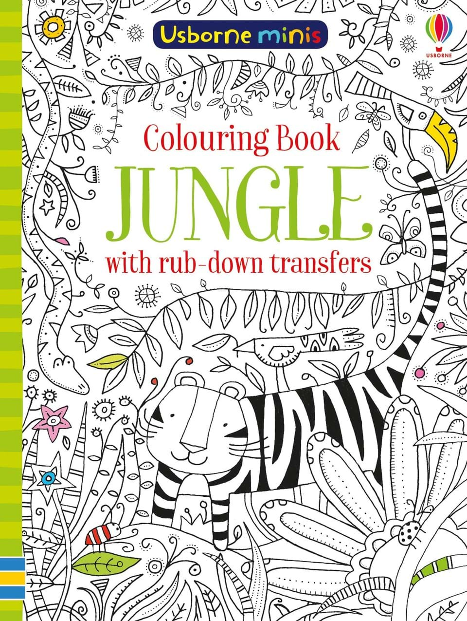 Colouring book jungle with rub-down transfers celtic patterns to colour