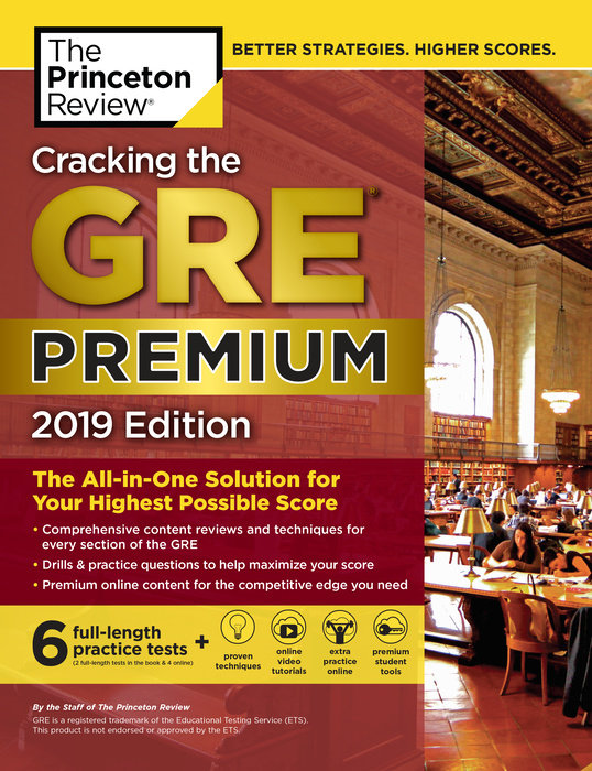 Cracking the GRE Premium Edition with 6 Practice Tests, 2019 gre verbal and writing chinese edition