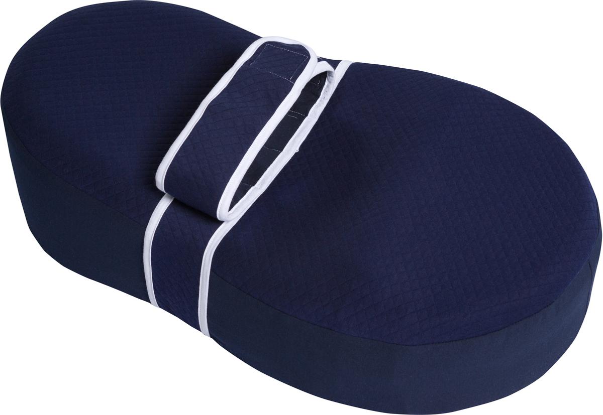 Dolce Bambino Матрас-кокон для новорожденных Dolce Cocon цвет синий 70 х 41 х 18 см + дополнительная наволочка Жирафик