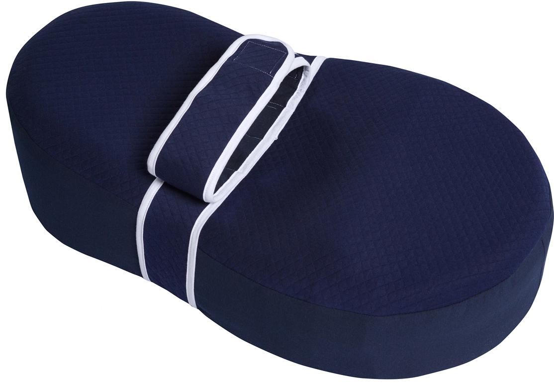 Dolce Bambino Матрас-кокон для новорожденных Dolce Cocon Plus цвет синий 70 х 41 х 18 см + дополнительная наволочка Жирафик