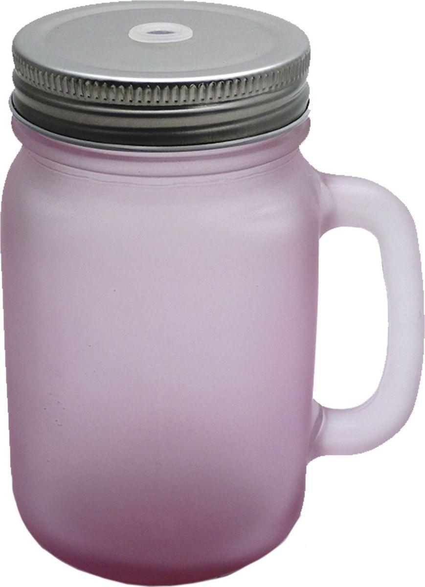 Кружка для холодных напитков Матовая Розовая, из стекла с крышкой из луженой стали, 450мл. Хранить в сухом, защищенном от влаги месте. Не мыть в посудомоечной машине. Не использовать при мытье агрессивные моющие средства и жесткие губки.