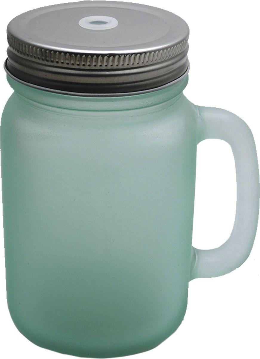 Кружка для холодных напитков Матовая Мятная, из стекла с крышкой из луженой стали, 450мл. Хранить в сухом, защищенном от влаги месте. Не мыть в посудомоечной машине. Не использовать при мытье агрессивные моющие средства и жесткие губки.