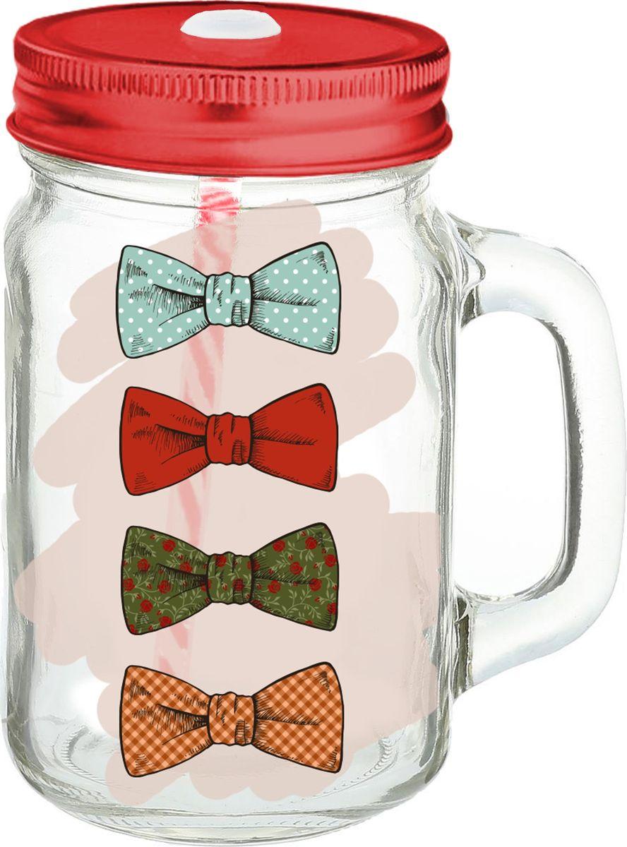 Кружка для холодных напитков Бантики, из стекла с крышкой из луженой стали, 450мл. Хранить в сухом, защищенном от влаги месте. Не мыть в посудомоечной машине. Не использовать при мытье агрессивные моющие средства и жесткие губки.