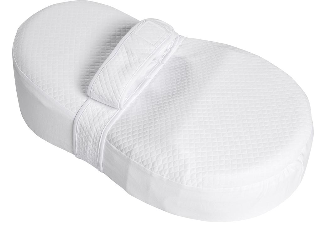 Dolce Bambino Матрас-кокон для новорожденных Dolce Cocon Plus цвет белый 70 х 41 х 18 см + дополнительная наволочка Жирафик