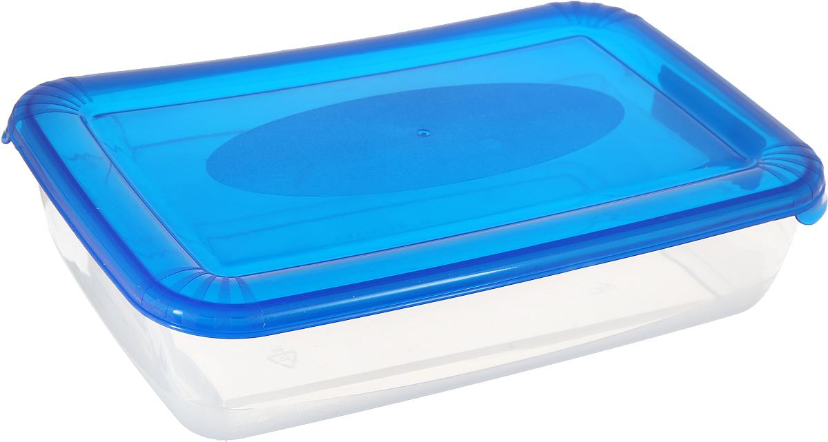 Контейнер пищевой Plast Team Polar, цвет: голубой, прозрачный, 1,9 л, 25,8 х 16,8 х 6 смPT1672ГПР-12РNУниверсальные качественные контейнеры предназначены для хранения в холодильнике и морозилке, разогрева в СВЧ (не более 3х минут, при открытой крышке). Благодаря покрытию шагрень на верхней плоскости крышки контейнер удобно держать в руках и контейнеры надежно устанавливаются друг на друга.