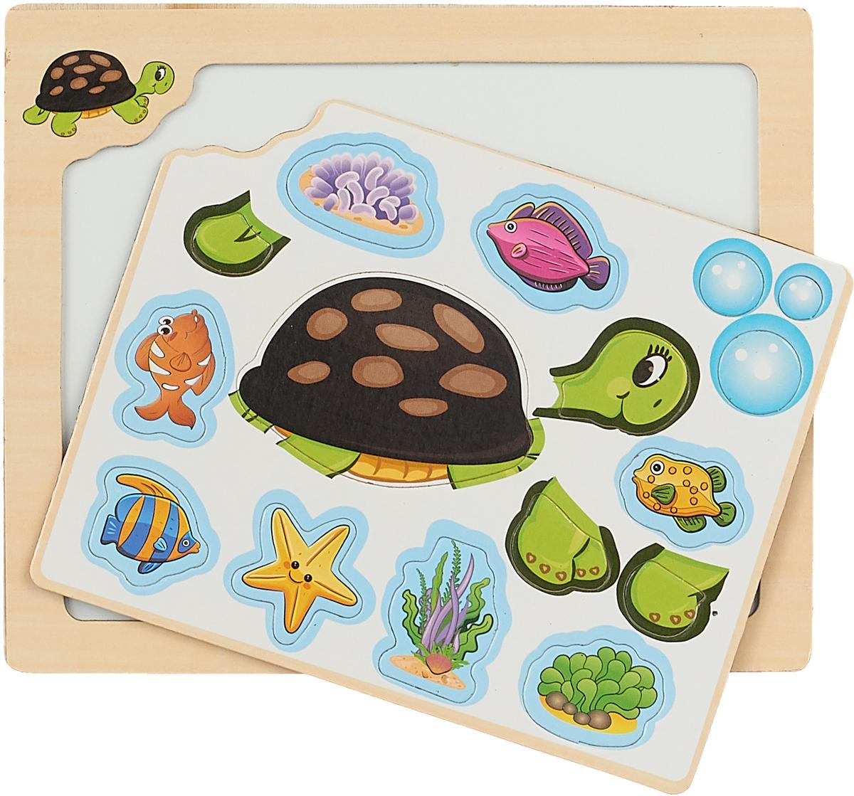 Mapacha Магнитная игра Собери картинку Черепаха