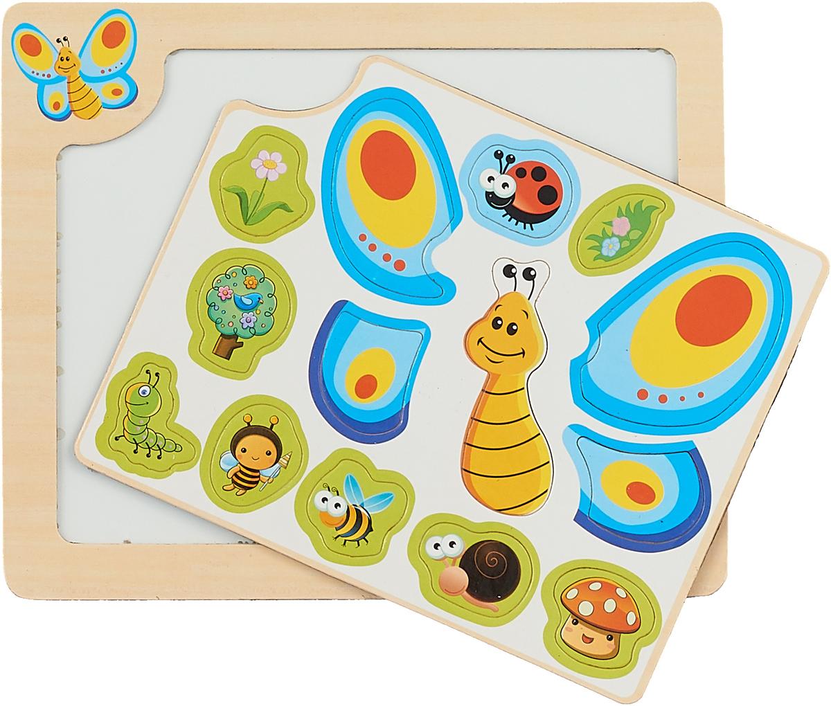 Mapacha Магнитная игра Собери картинку Бабочка