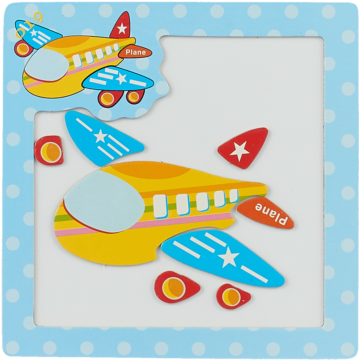 Магнитный пазл Транспорт Самолет